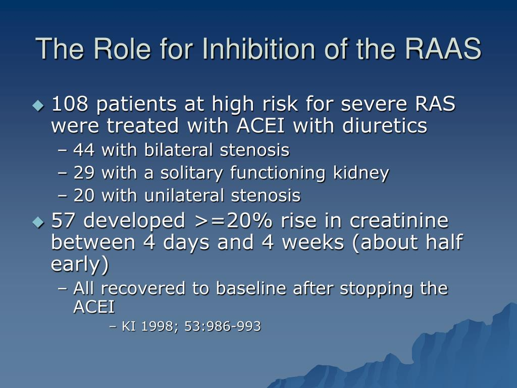 The Role for Inhibition of the RAAS
