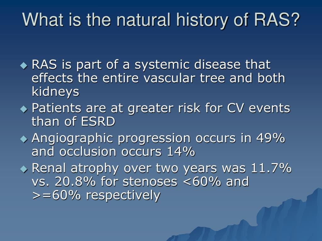 What is the natural history of RAS?