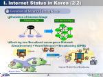 i internet status in korea 2 2