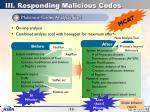 iii responding malicious codes11