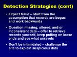 detection strategies cont