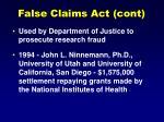 false claims act cont