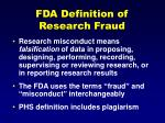fda definition of research fraud
