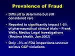 prevalence of fraud