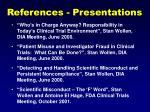 references presentations