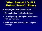 what should i do if i detect fraud sites