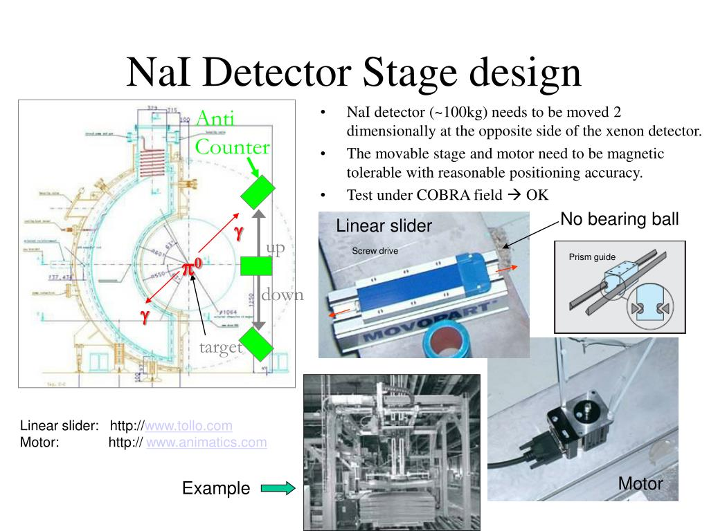 NaI Detector Stage design
