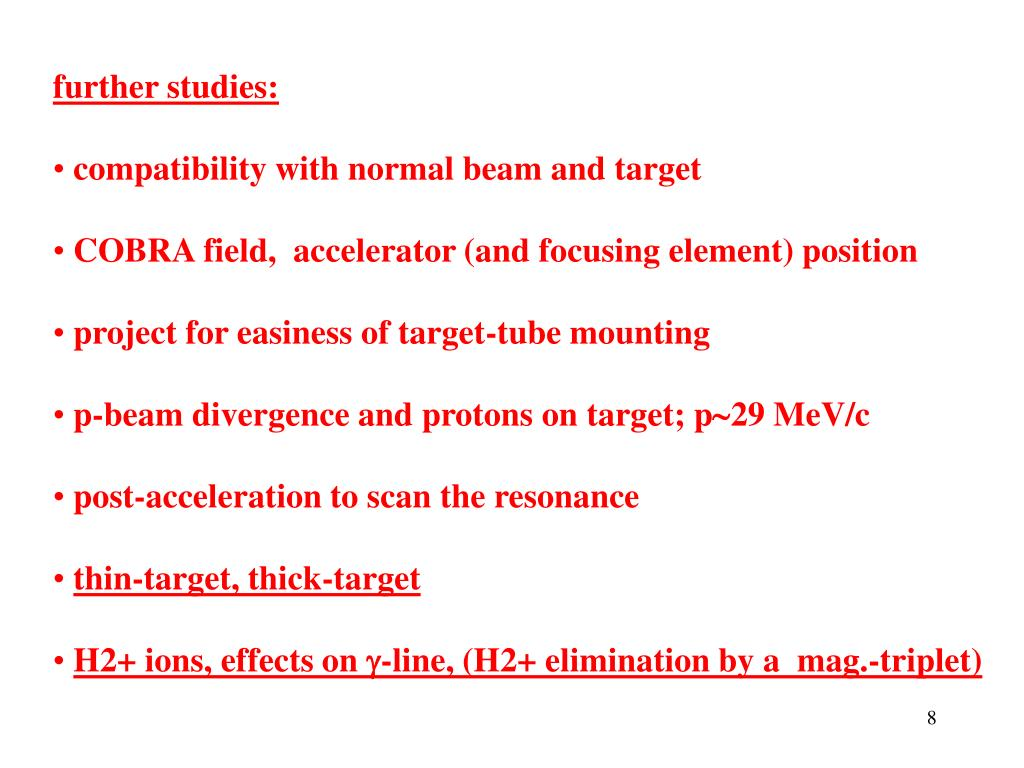 further studies: