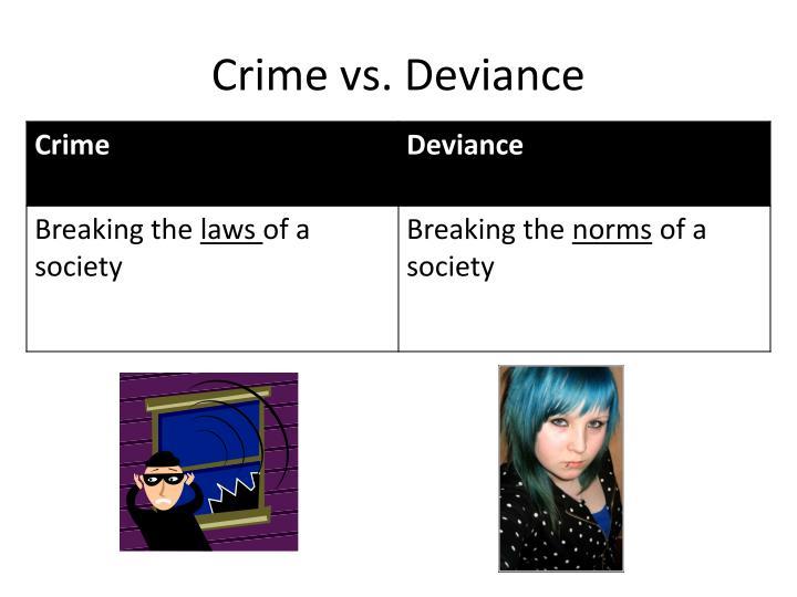 Crime vs deviance