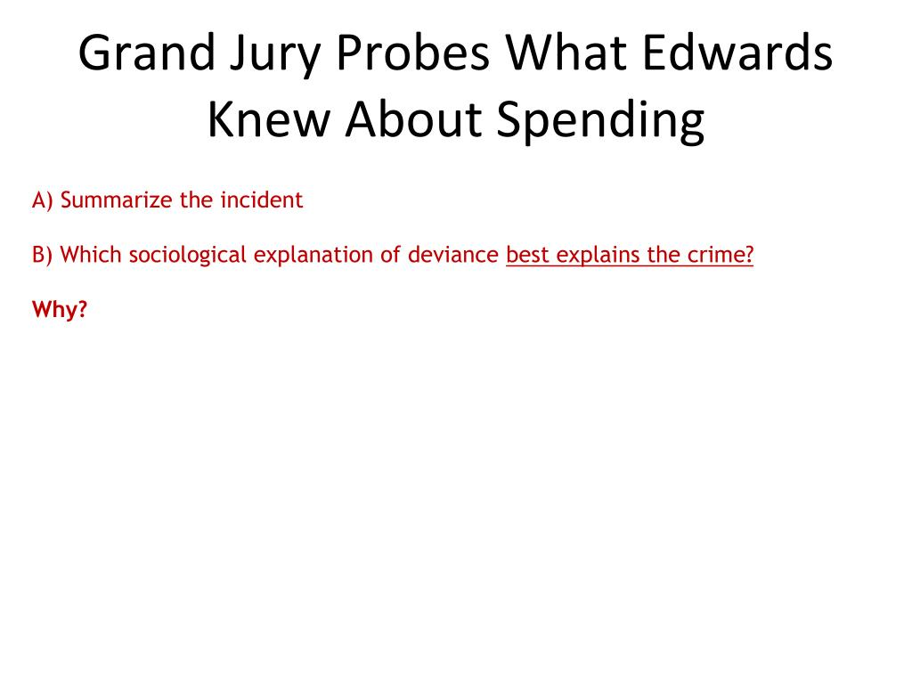 Grand Jury Probes What Edwards Knew About Spending