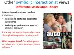 other symbolic interactionist views differential association theory