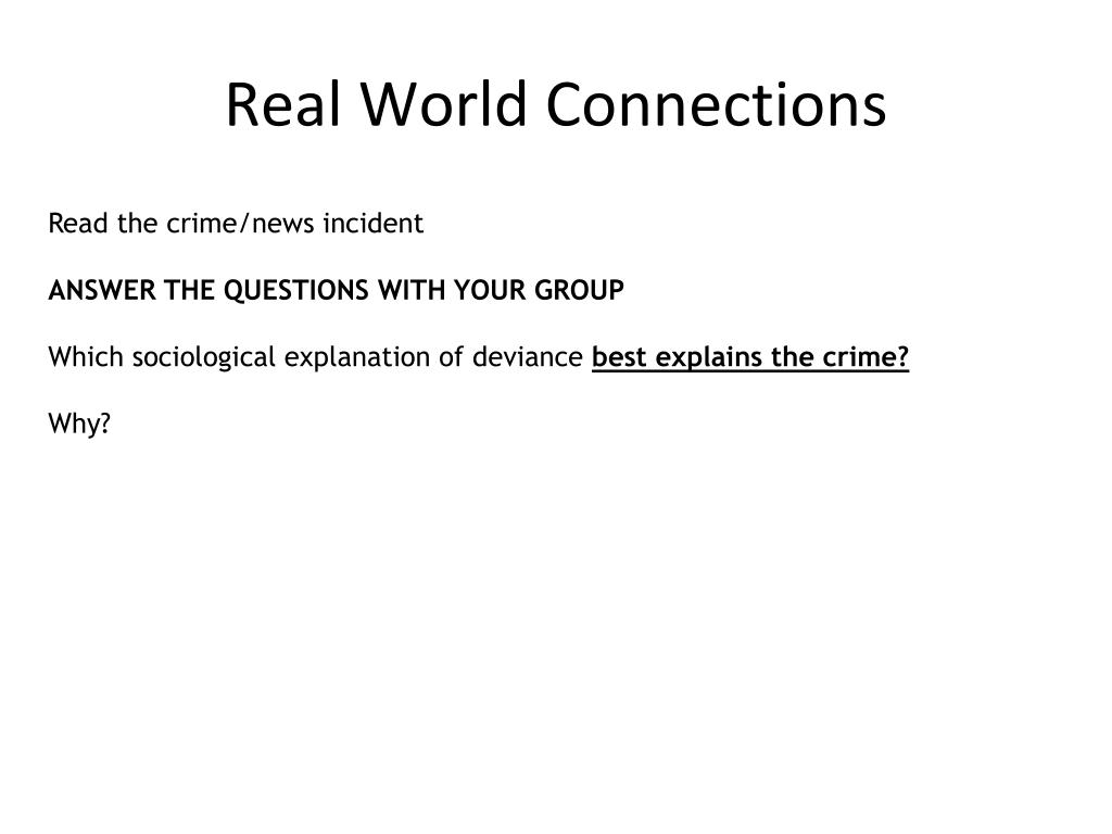 Real World Connections