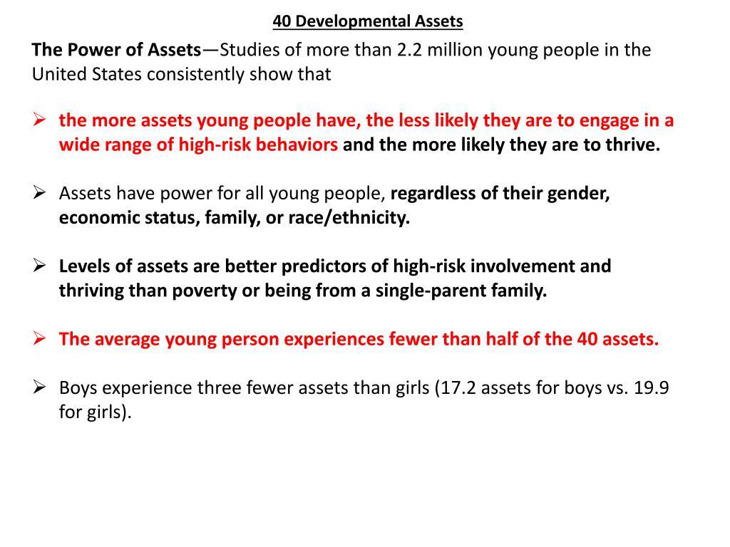 40 Developmental Assets