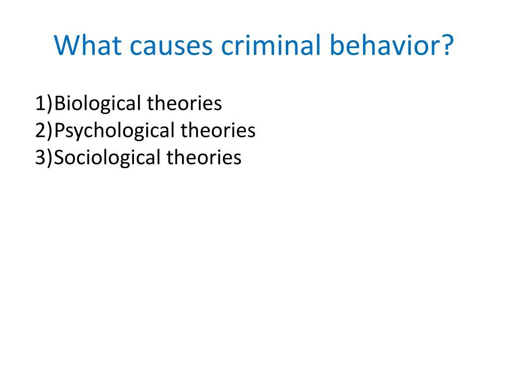 What causes criminal behavior?