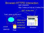 browser httpd interaction