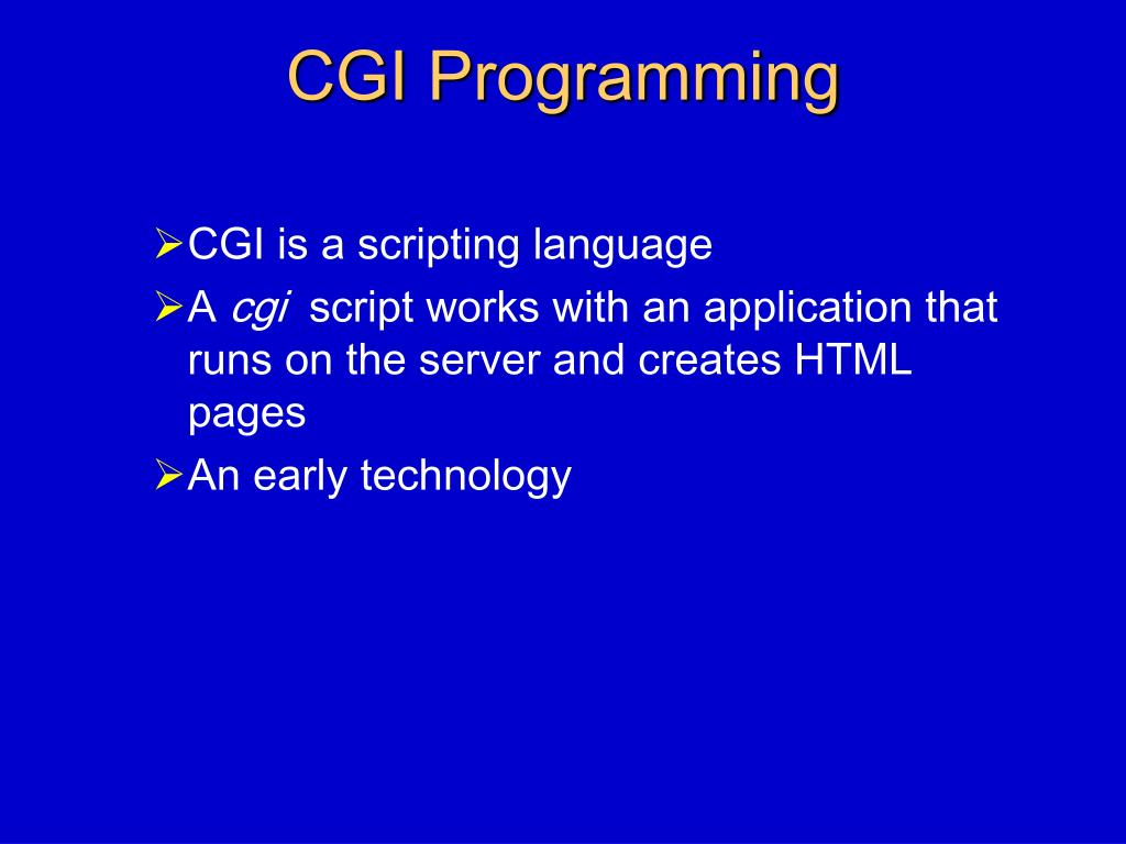 CGI Programming