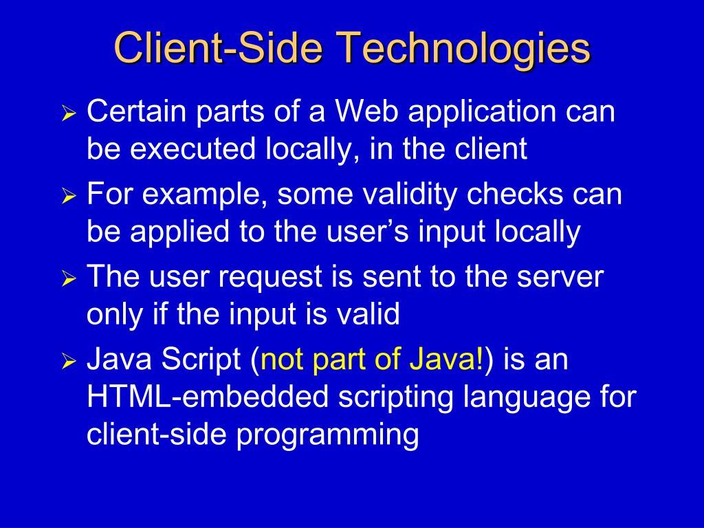 Client-Side Technologies