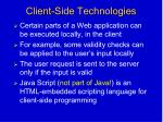 client side technologies