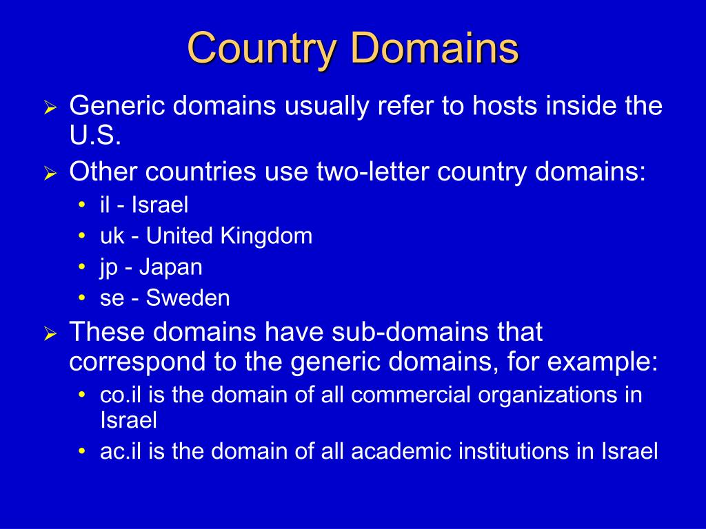 Country Domains