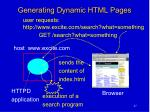 generating dynamic html pages