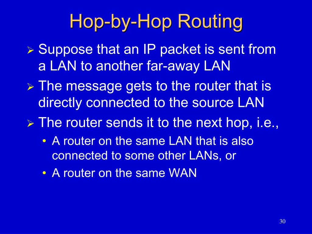 Hop-by-Hop Routing