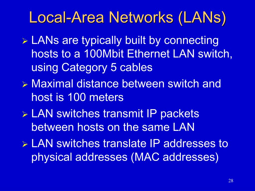 Local-Area Networks (LANs)