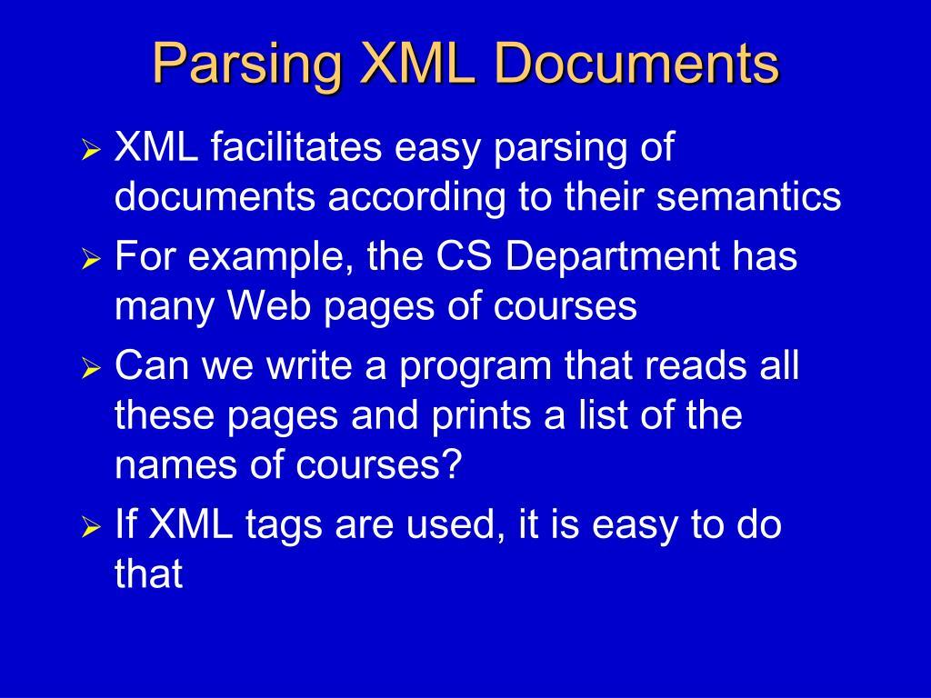 Parsing XML Documents