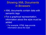 showing xml documents in browsers