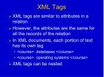 xml tags