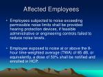 affected employees
