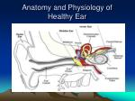 anatomy and physiology of healthy ear