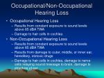 occupational non occupational hearing loss