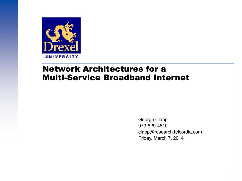 network architectures for a multi service broadband internet l.