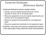 corporate databases reference books