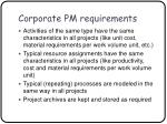 corporate pm requirements14