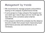 management by trends