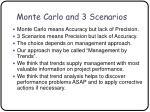 monte carlo and 3 scenarios50