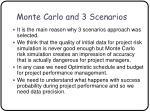 monte carlo and 3 scenarios51