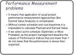 performance measurement problems