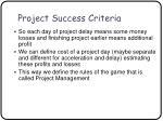 project success criteria33