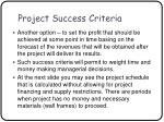 project success criteria34