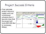 project success criteria36
