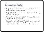 scheduling tasks