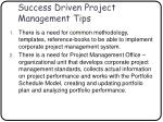 success driven project management tips