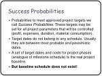 success probabilities