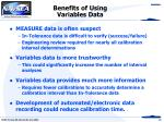 benefits of using variables data