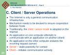 c client server operations