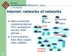 internet networks of networks