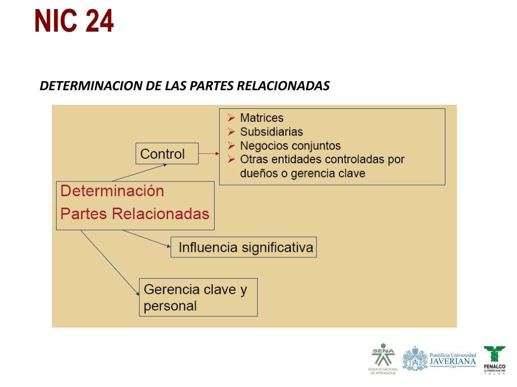 DETERMINACION DE LAS PARTES RELACIONADAS