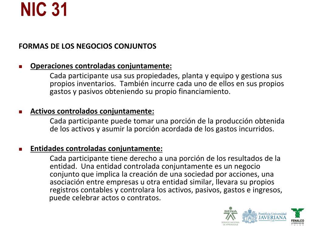 FORMAS DE LOS NEGOCIOS CONJUNTOS